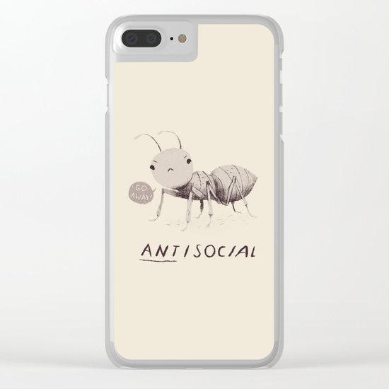 antisocial Clear iPhone Case