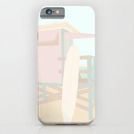 Beach Hut - Mint and Blush  iPhone Case