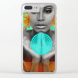 Supermodel Donyale 3 - Supermodels of the Sixties Series Clear iPhone Case