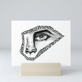 BLACK EYE PATTERN Mini Art Print