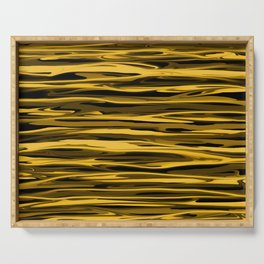 Honey Yellow Abstract Drizzle Serving Tray