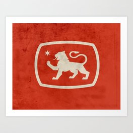 LionStar Art Print