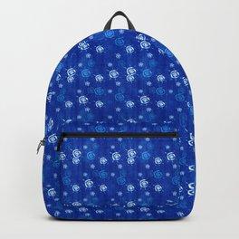 Grunge sun pattern blue Backpack