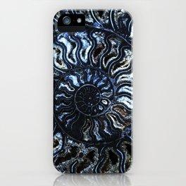Blue Ammonite iPhone Case