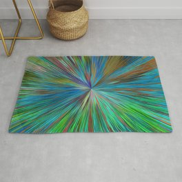 Abstract Sphere Mandala Design 711 Rug