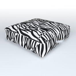 Black and White Zebra fish Outdoor Floor Cushion