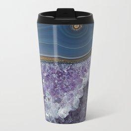 Amethyst Geode Agate Travel Mug