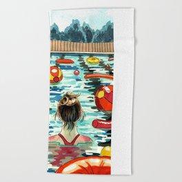 Pooling Beach Towel