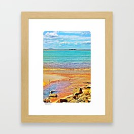 Elizabeth Beach Framed Art Print