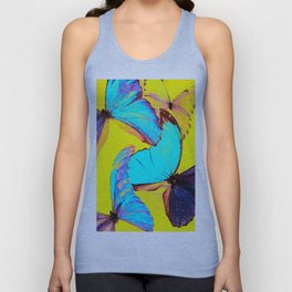 Shiny and colorful butterflies #decor #buyart #society6 Unisex Tank Top