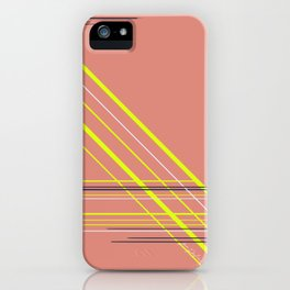 Electric stripes iPhone Case
