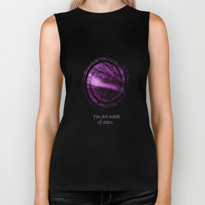 You are Made of Stars Biker Tank