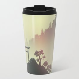 Red sunset in the Japan mountains Travel Mug