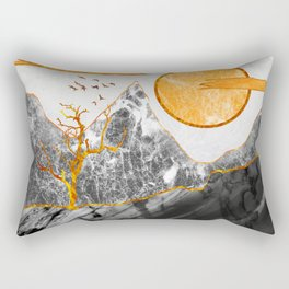 Marble mountains and the fire tree Rectangular Pillow