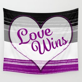 Asexual Gay Pride-Love Wins Design Wall Tapestry