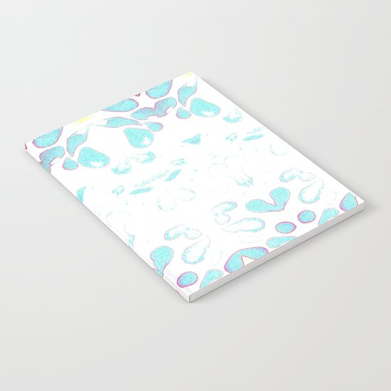 Summer Vibes, Blue and Purple Neon Leaves Notebook