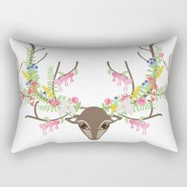 Botanical Doe Deer Rectangular Pillow