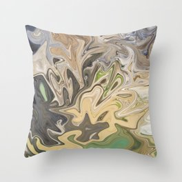 Shattered Earth Throw Pillow