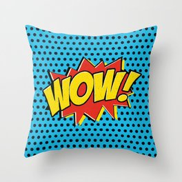 Wow! Throw Pillow