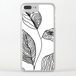 Lines minimalist Zen decor, Scandi Monochrome zen Clear iPhone Case