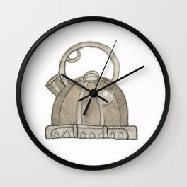 When teapots whistle Wall Clock