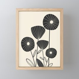 Abstract Flowers Framed Mini Art Print