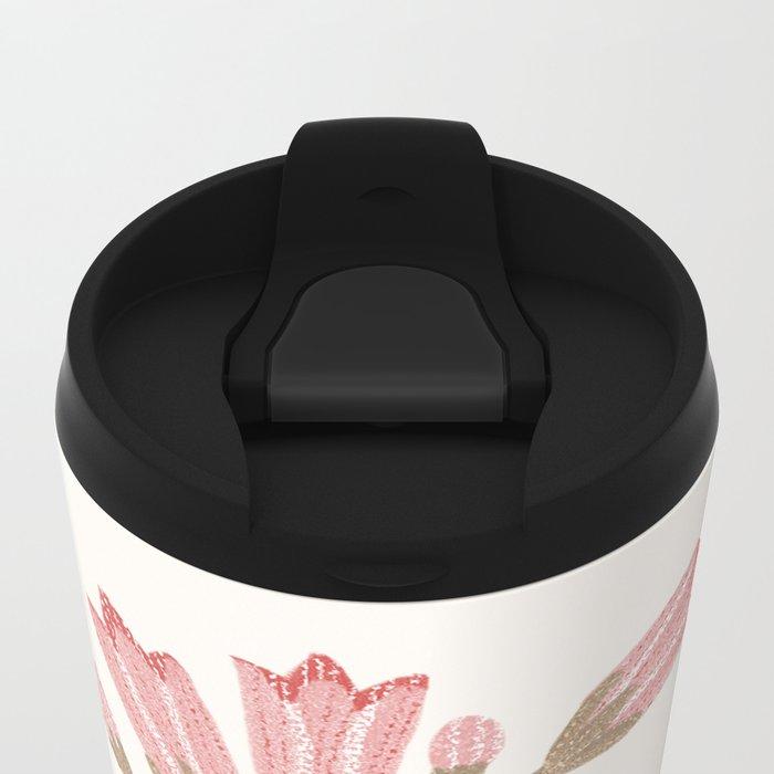 Flower In a Pot Metal Travel Mug