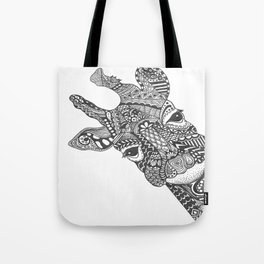 Zentangle Giraffe Tote Bag