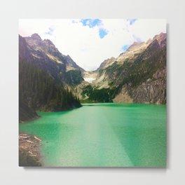 Turquoise Escape Metal Print