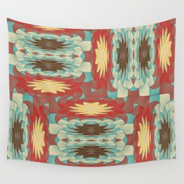 Complex colorful pattern Wall Tapestry