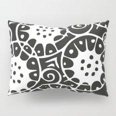 Black and White Swirl Pattern Pillow Sham