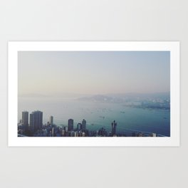 Hong Kong From Above Art Print