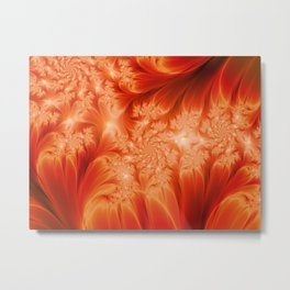 Fractal The Heat of the Sun Metal Print