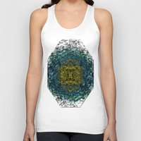 geode Tank Tops featuring Geode Abstract 01 by Charma Rose