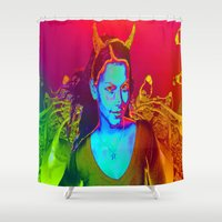 witchcraft Shower Curtains featuring Witchcraft by ICARUSISMART