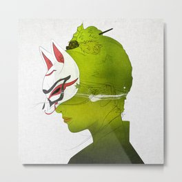 Fox Mask _side face Metal Print