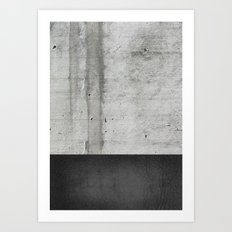 Raw Concrete and Black Leather Art Print