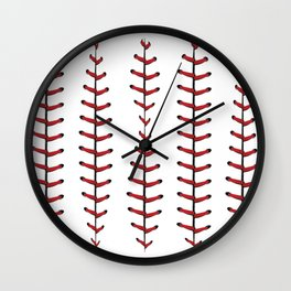 Baseball Laces Background Wall Clock