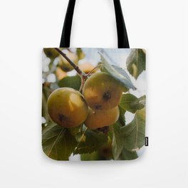 Green Apples on a Tree Tote Bag