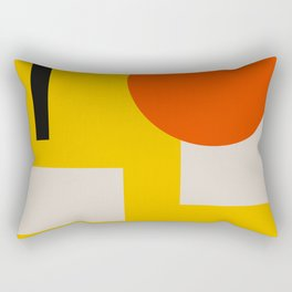 geometry abstract yellow Rectangular Pillow