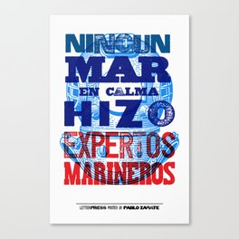 Mar en Calma Canvas Print