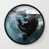 otter Wall Clocks featuring Otter by RMK Photography