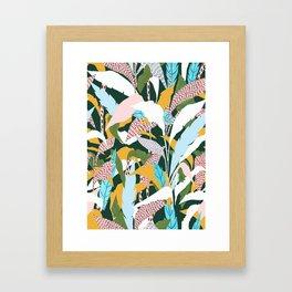 Fragmented Jungles Framed Art Print