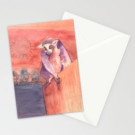 Madagascar's lemur catta Stationery Cards