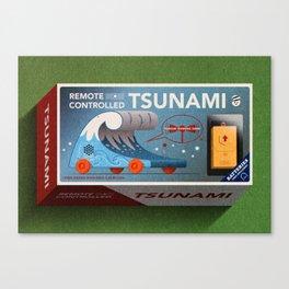 Remote Controlled Tsunami Canvas Print