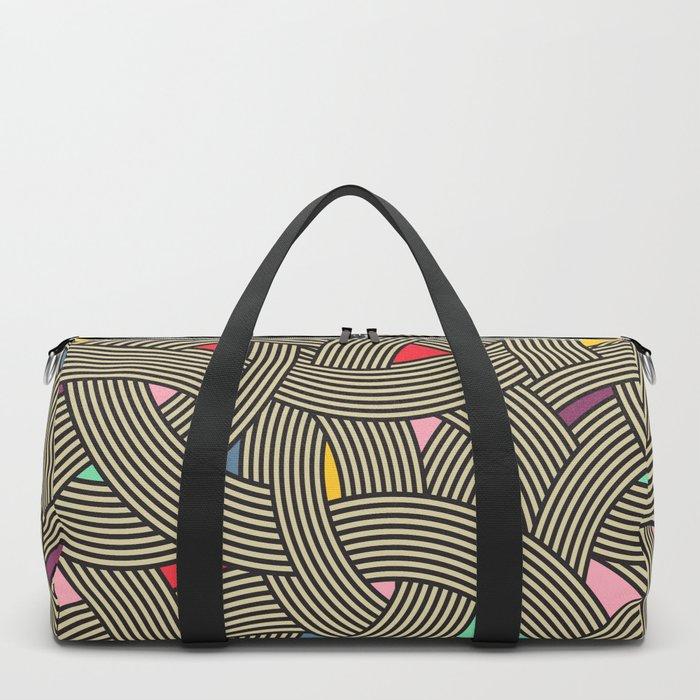 Modern Scandinavian Multi Colour Color Curve Graphic Duffle Bag