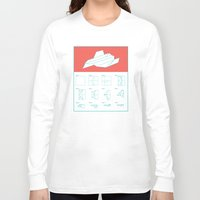 plain Long Sleeve T-shirts featuring Paper Plain  by Astronutlab