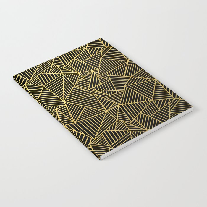 Ab 2 R Black and Gold Notebook