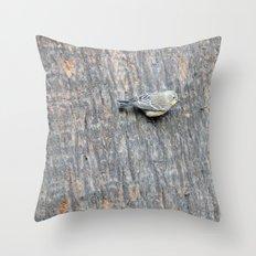 TEXTURES -- Warbler on Palm Bark Throw Pillow