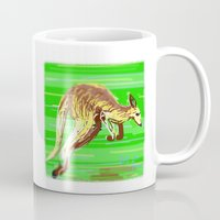 kangaroo Mugs featuring Kangaroo by wingnang